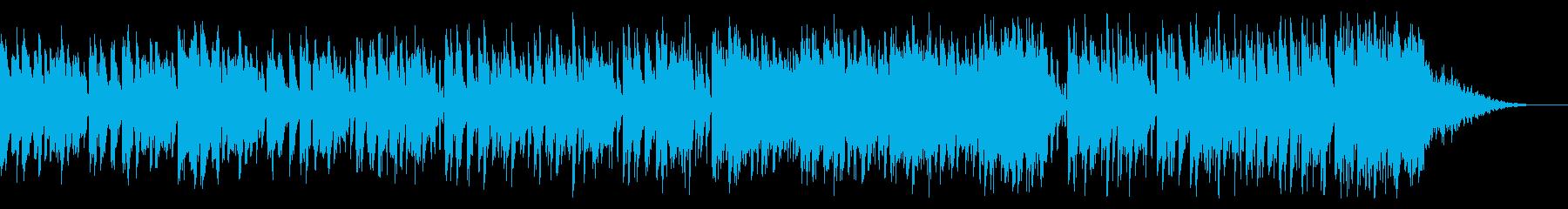 キャッチーなステップ音楽の再生済みの波形