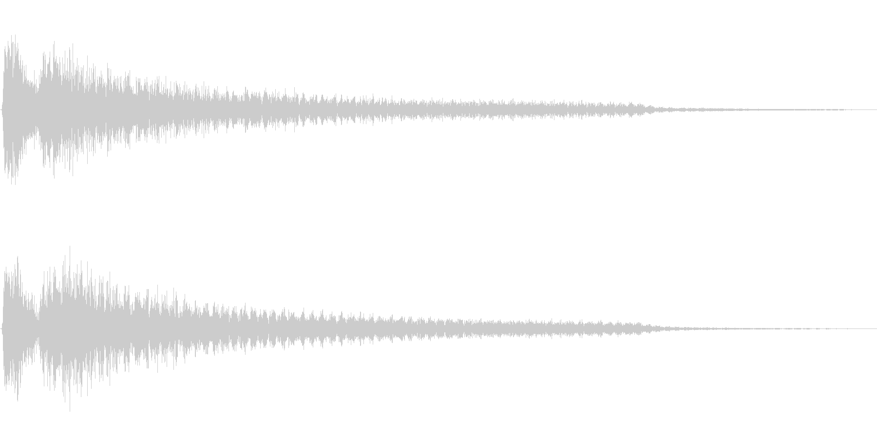 ダダーン(ホラーに適した不穏なピアノ音)の未再生の波形