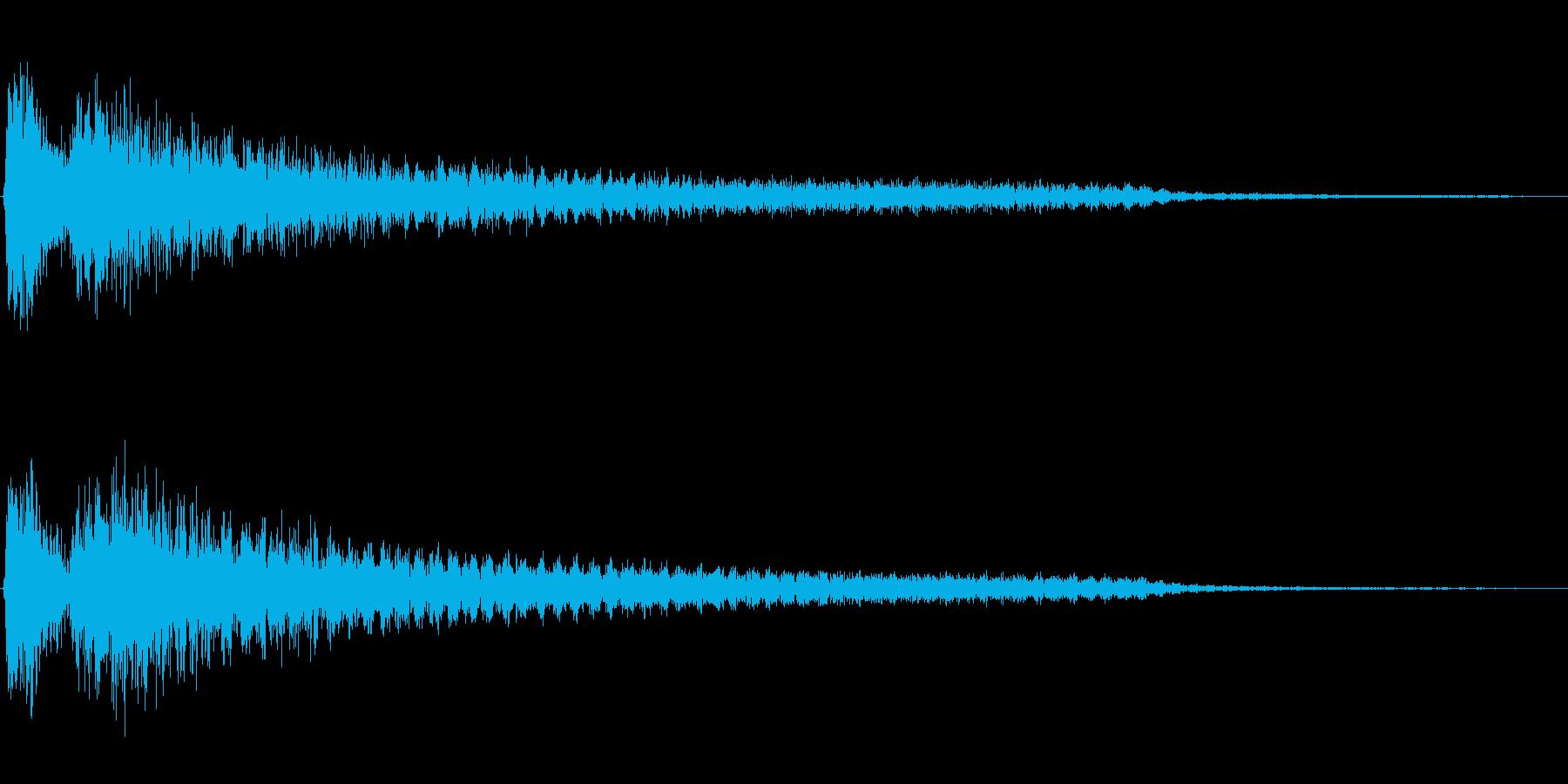 ダダーン(ホラーに適した不穏なピアノ音)の再生済みの波形