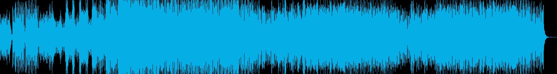 エネルギッシュなポップスの再生済みの波形