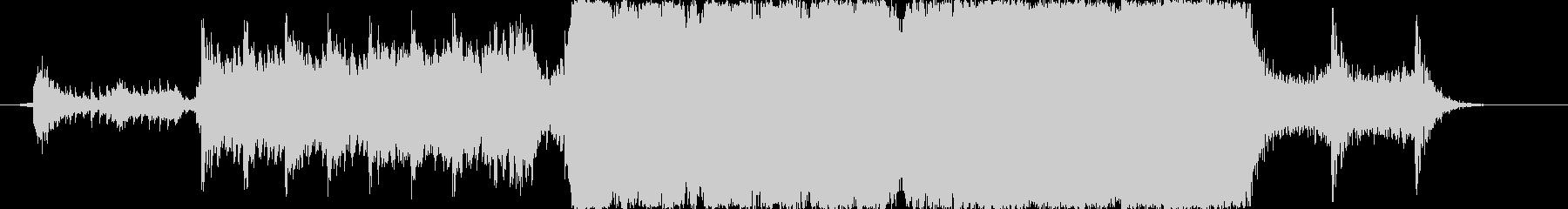壮大な映像向けBGMの未再生の波形