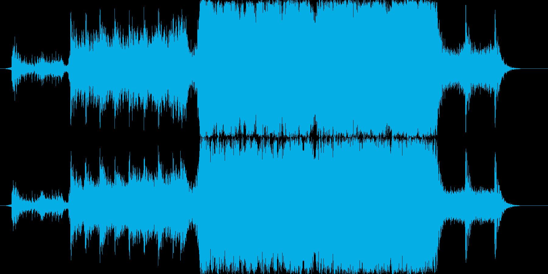 壮大な映像向けBGMの再生済みの波形