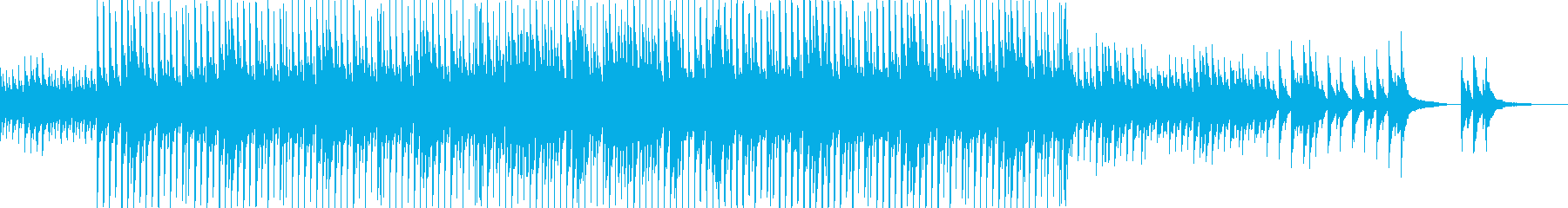 夏をイメージしたバラードの再生済みの波形