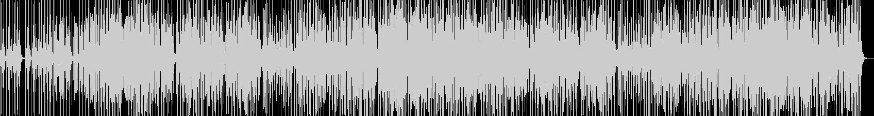 声と笛が絡み合う不思議なBGMの未再生の波形