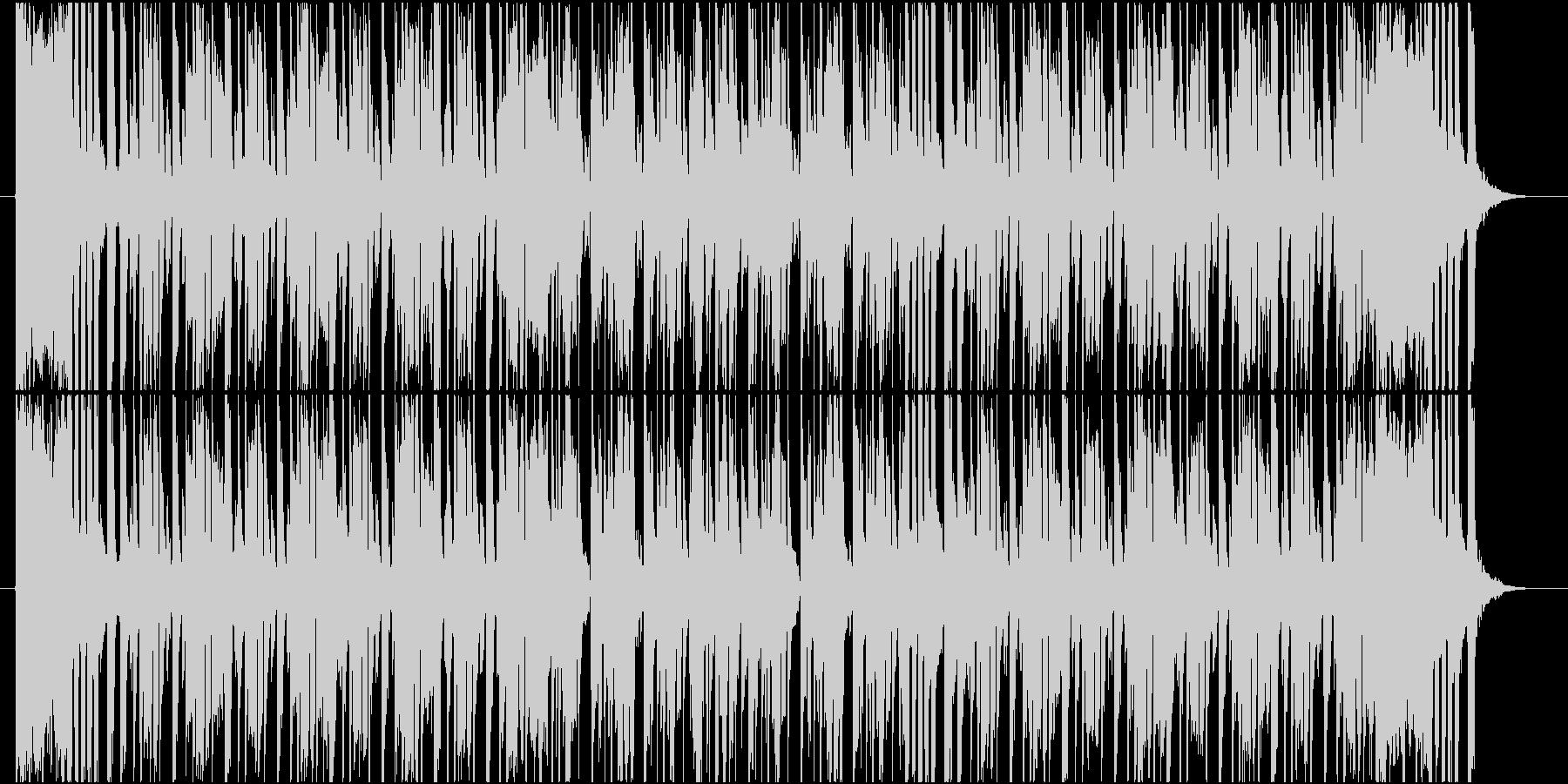 ブラスとエレキギターの軽快なPOPSの未再生の波形