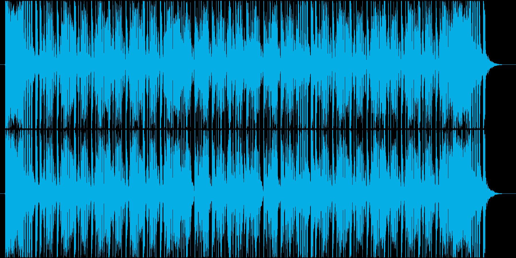 ブラスとエレキギターの軽快なPOPSの再生済みの波形