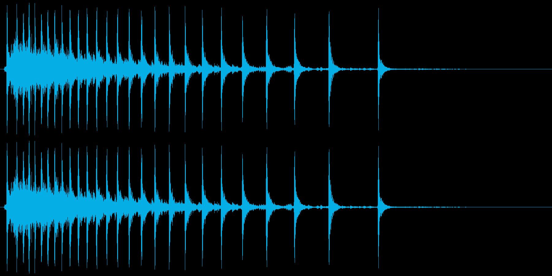グーンカチカチカチ・・・の再生済みの波形