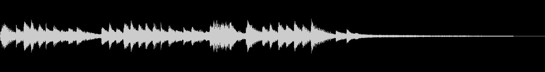 和風のジングル1b-タックピアノの未再生の波形