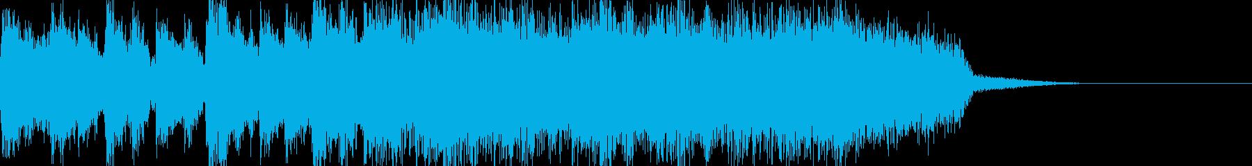 シンプルでストレートなロックジングルの再生済みの波形