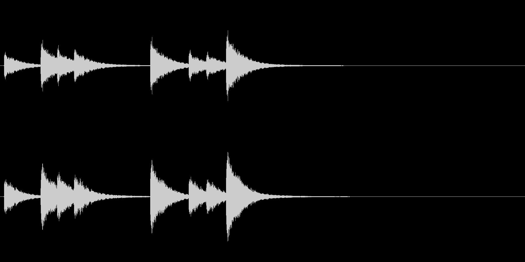 歌舞伎の吊るし鉦 双盤のフレーズ音の未再生の波形