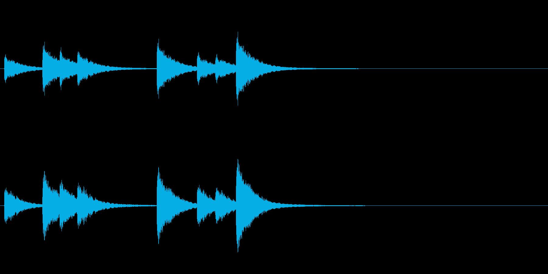 歌舞伎の吊るし鉦 双盤のフレーズ音の再生済みの波形