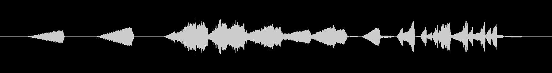 デジタル表示・メカ動作音・時間逆行#1の未再生の波形