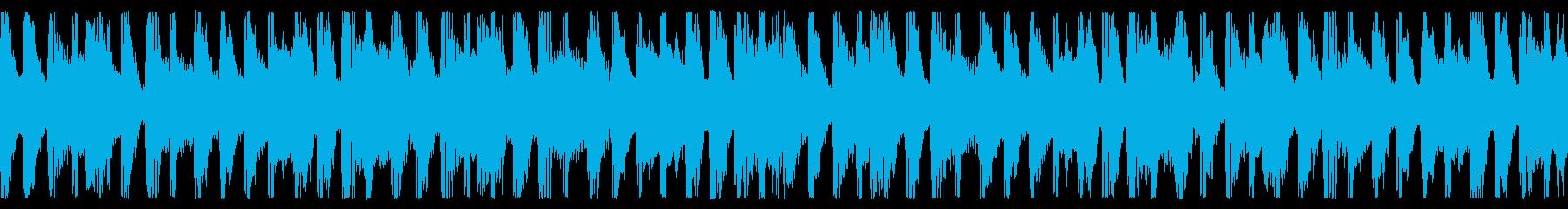 ややジャジーなコードと明るいピアノ...の再生済みの波形
