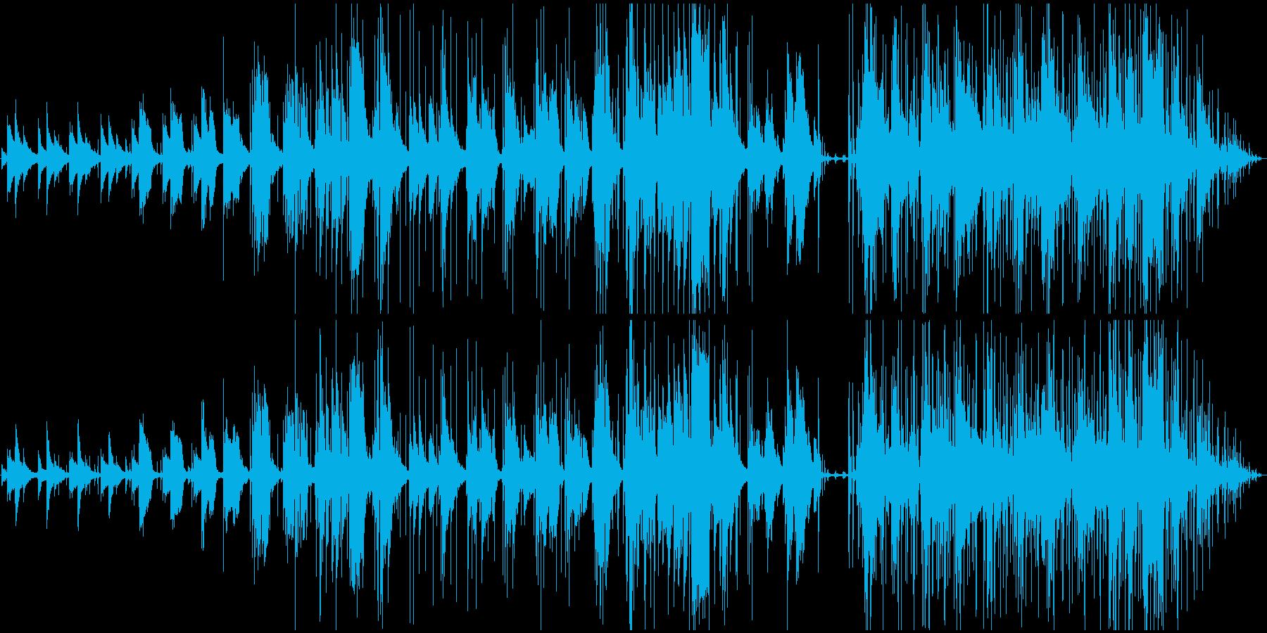 ポップロックバラードは、ピアノ、ボ...の再生済みの波形