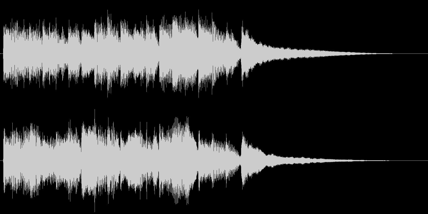 シンプルなピアノソロのジングルの未再生の波形