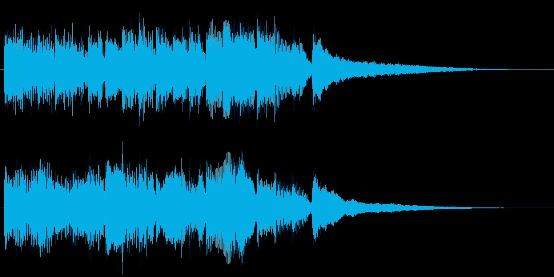 シンプルなピアノソロのジングルの再生済みの波形