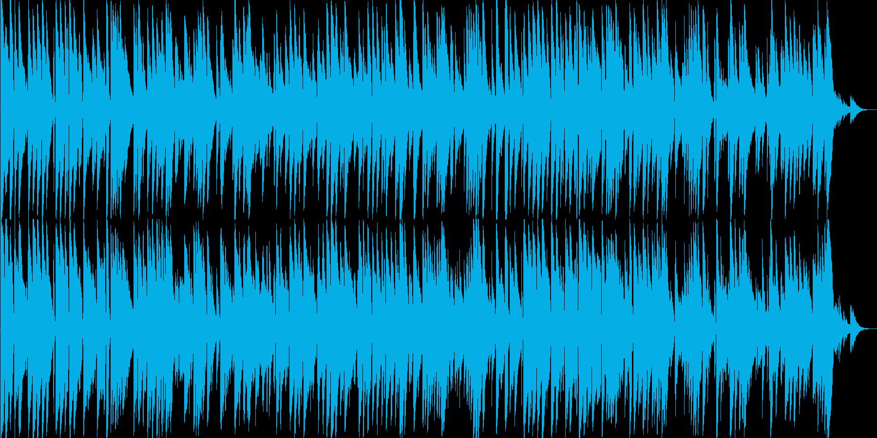 ゆっくりした落ち着きのあるギター音の再生済みの波形