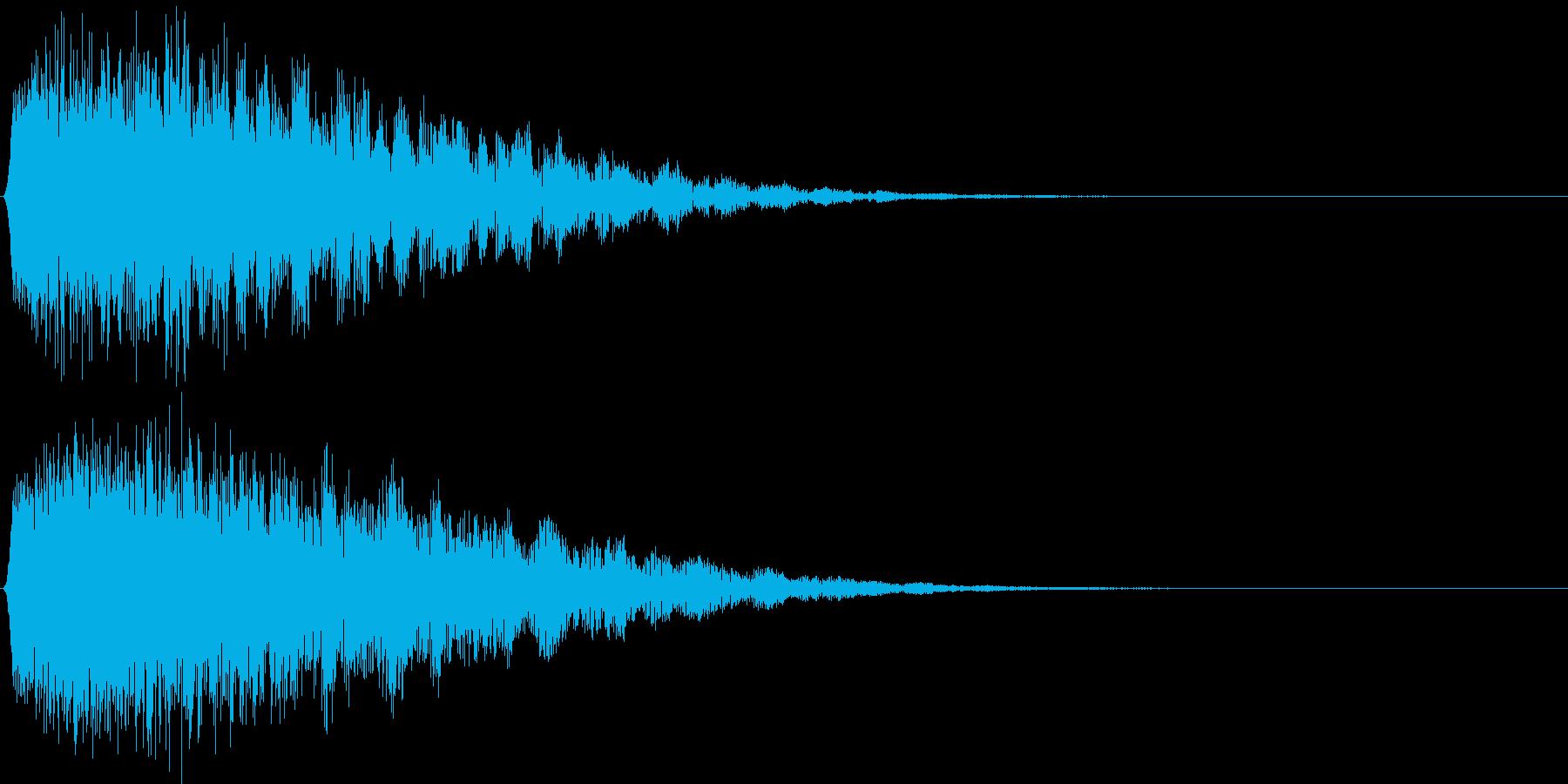 ギュオン。戦慄・驚愕する音の再生済みの波形