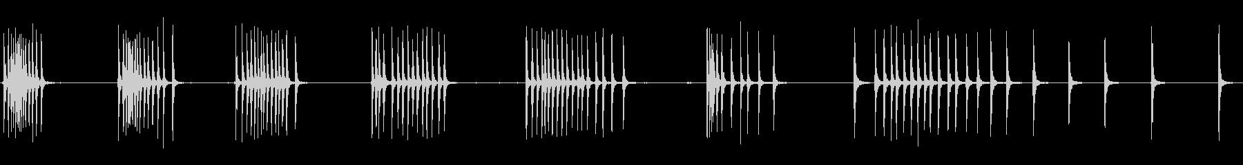 ラチェット:タイトクリックの巻き上げの未再生の波形