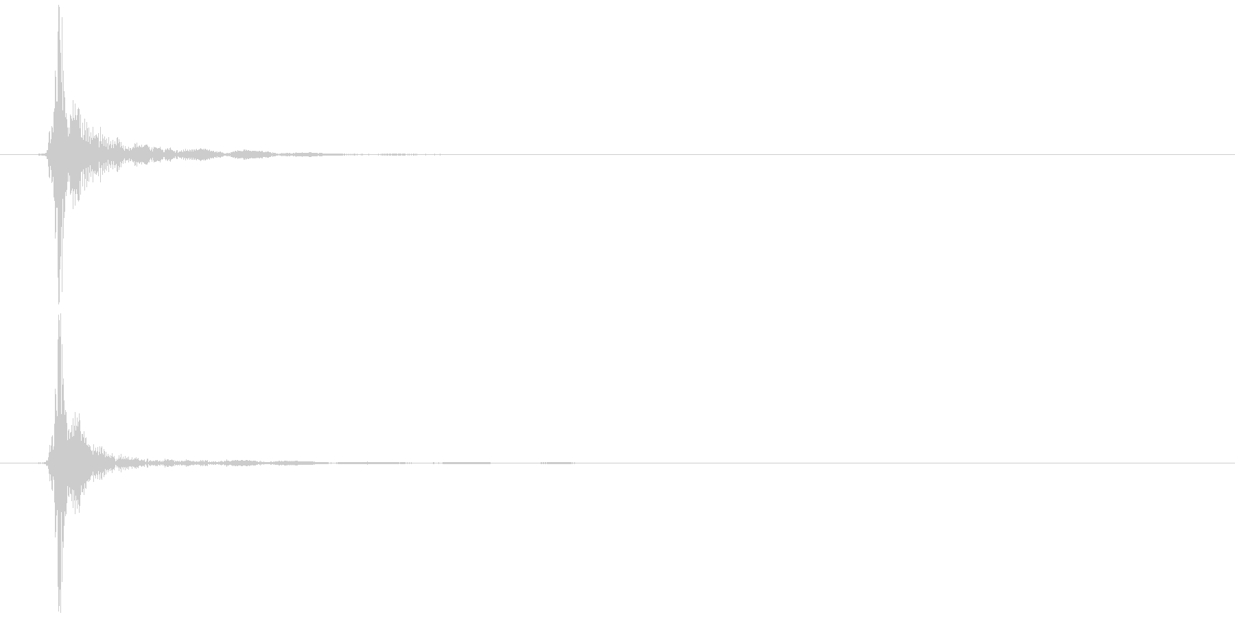 リング型キャップ 開栓 (パッ)の未再生の波形