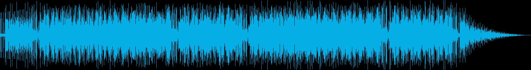 穏やかなオルガンなどのサウンドの再生済みの波形