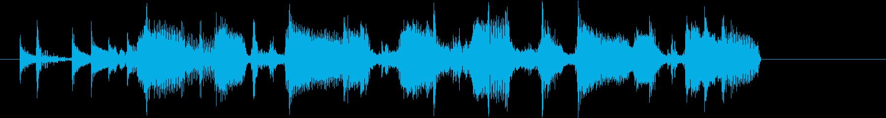 お洒落で疾走感あるギターファンクジングルの再生済みの波形