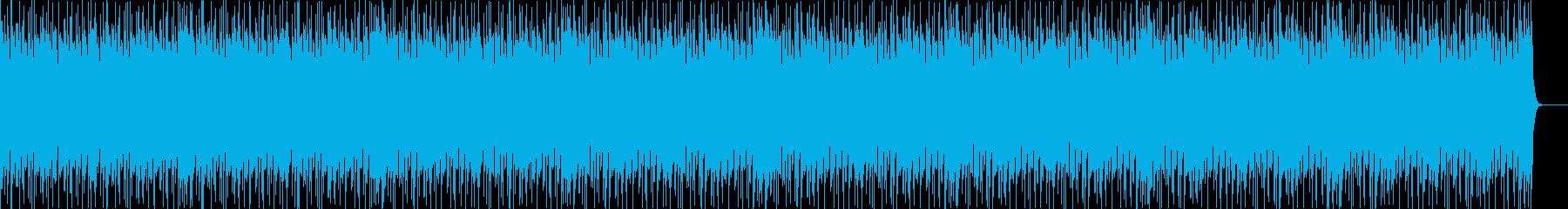 ラテン風の4つ打ちダンスビートの再生済みの波形