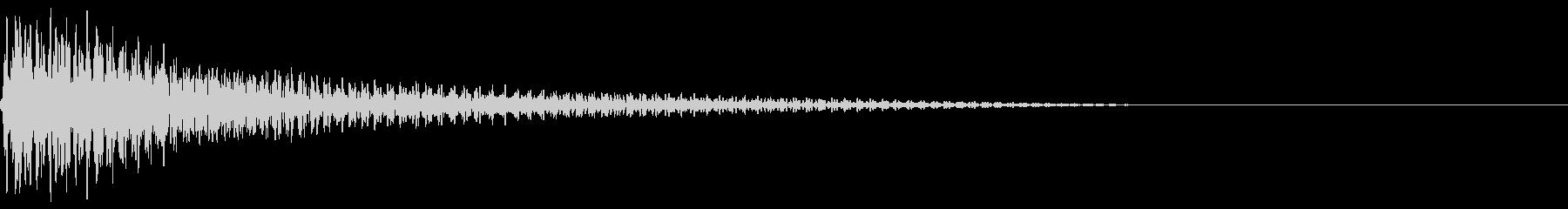 ピコン(ピアノの警告音)6の未再生の波形