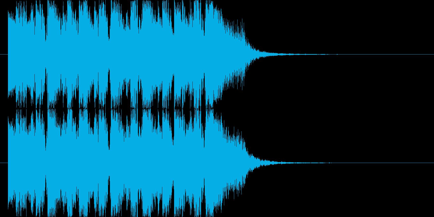 エレクトでダンサンブルなジングル2の再生済みの波形