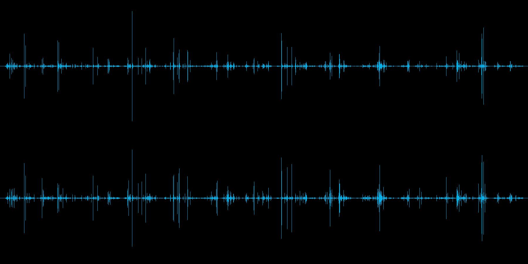 木 竹割れシーケンス01の再生済みの波形