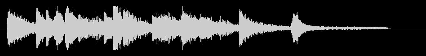 静かで落ち着いたスロージャズピアノのロゴの未再生の波形