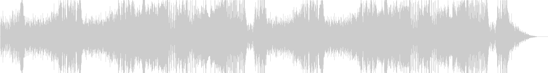 オーケストラ戦闘曲 ドラム入りの未再生の波形