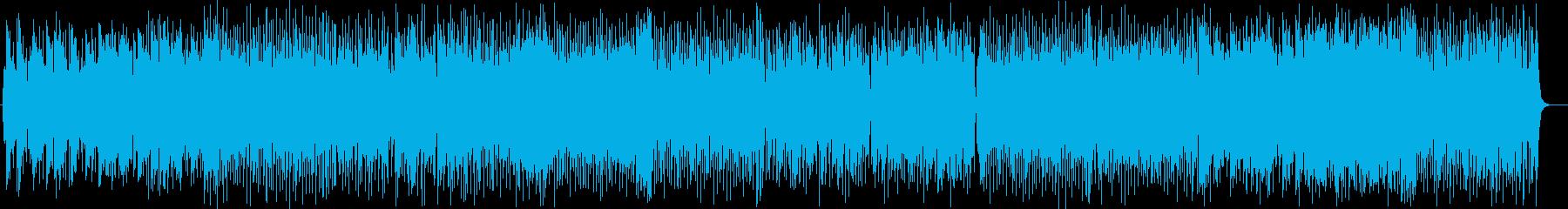 爽快で勢いのあるシンセピアノサウンドの再生済みの波形