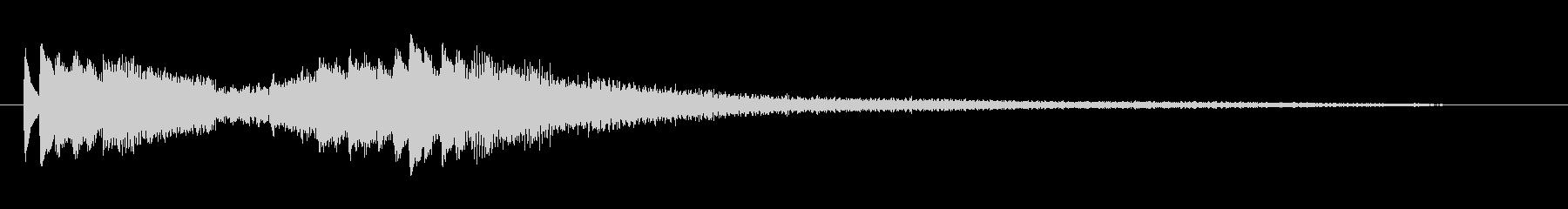モダンでかっこいいピアノジングルの未再生の波形
