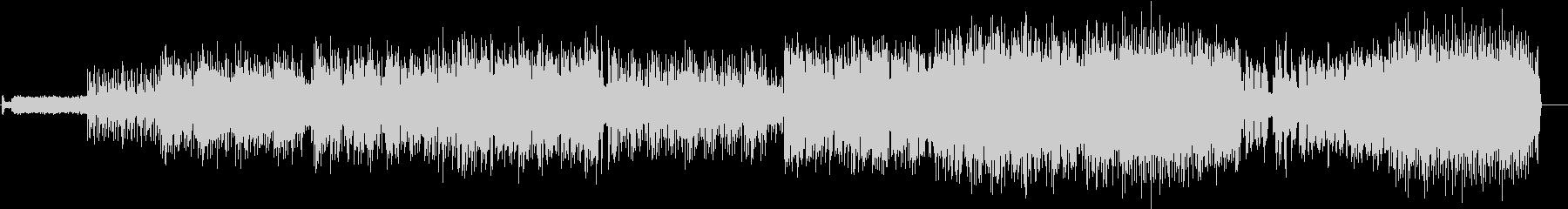 テンション高めのアップテンポな曲、DnBの未再生の波形