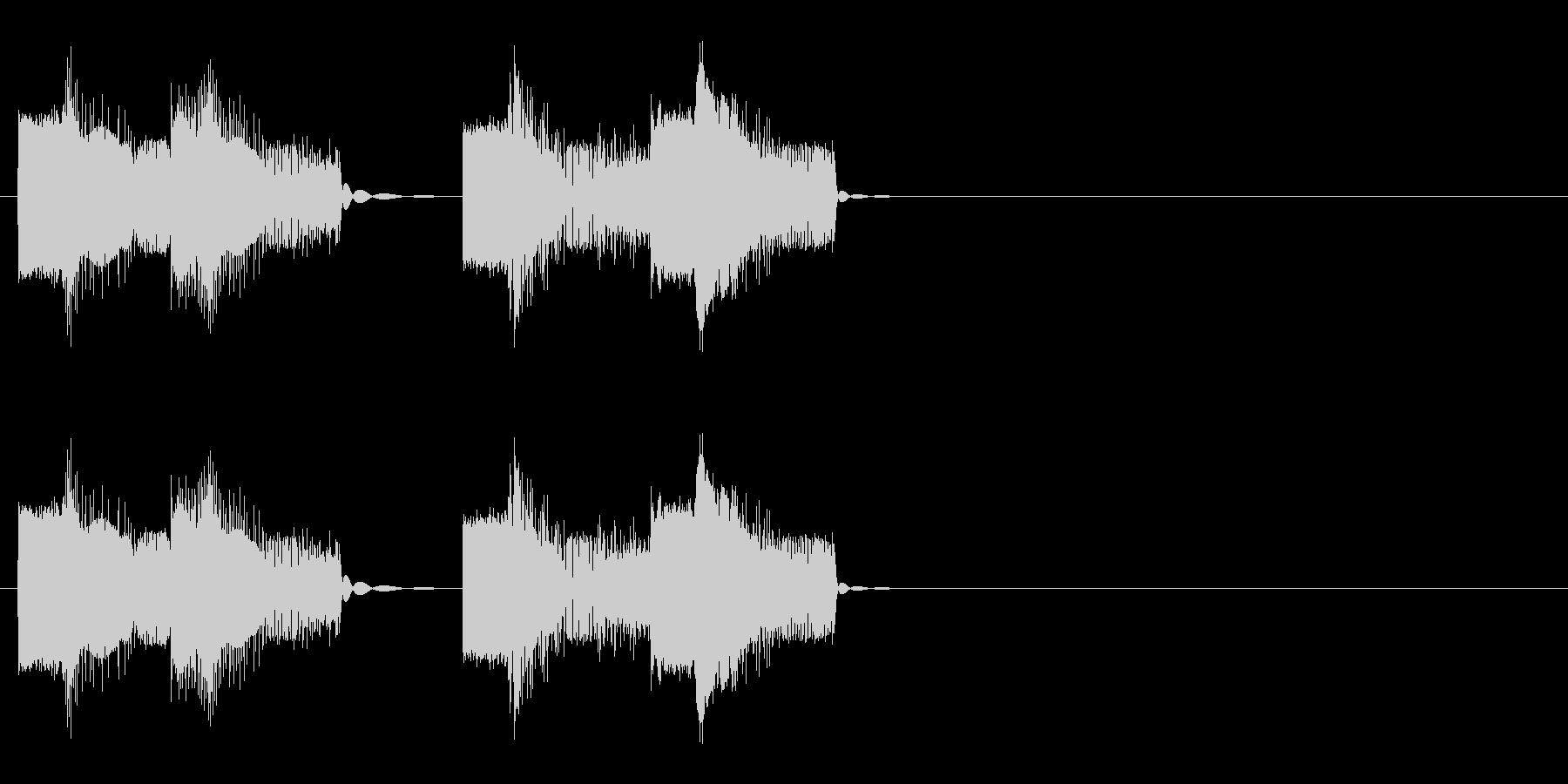 ロボットの音声 2の未再生の波形