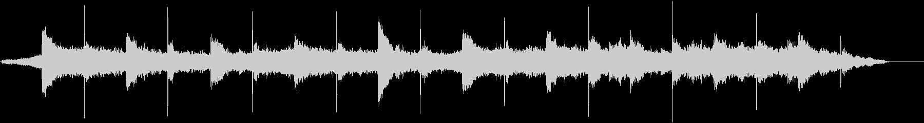 低音ピアノと高音ストリングスの環境系の未再生の波形