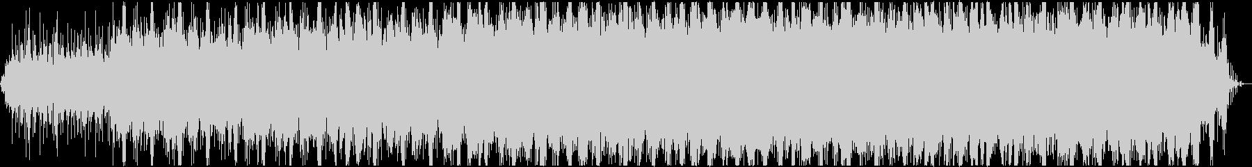 雨音と電子音のエレクトロ・アンビエントの未再生の波形
