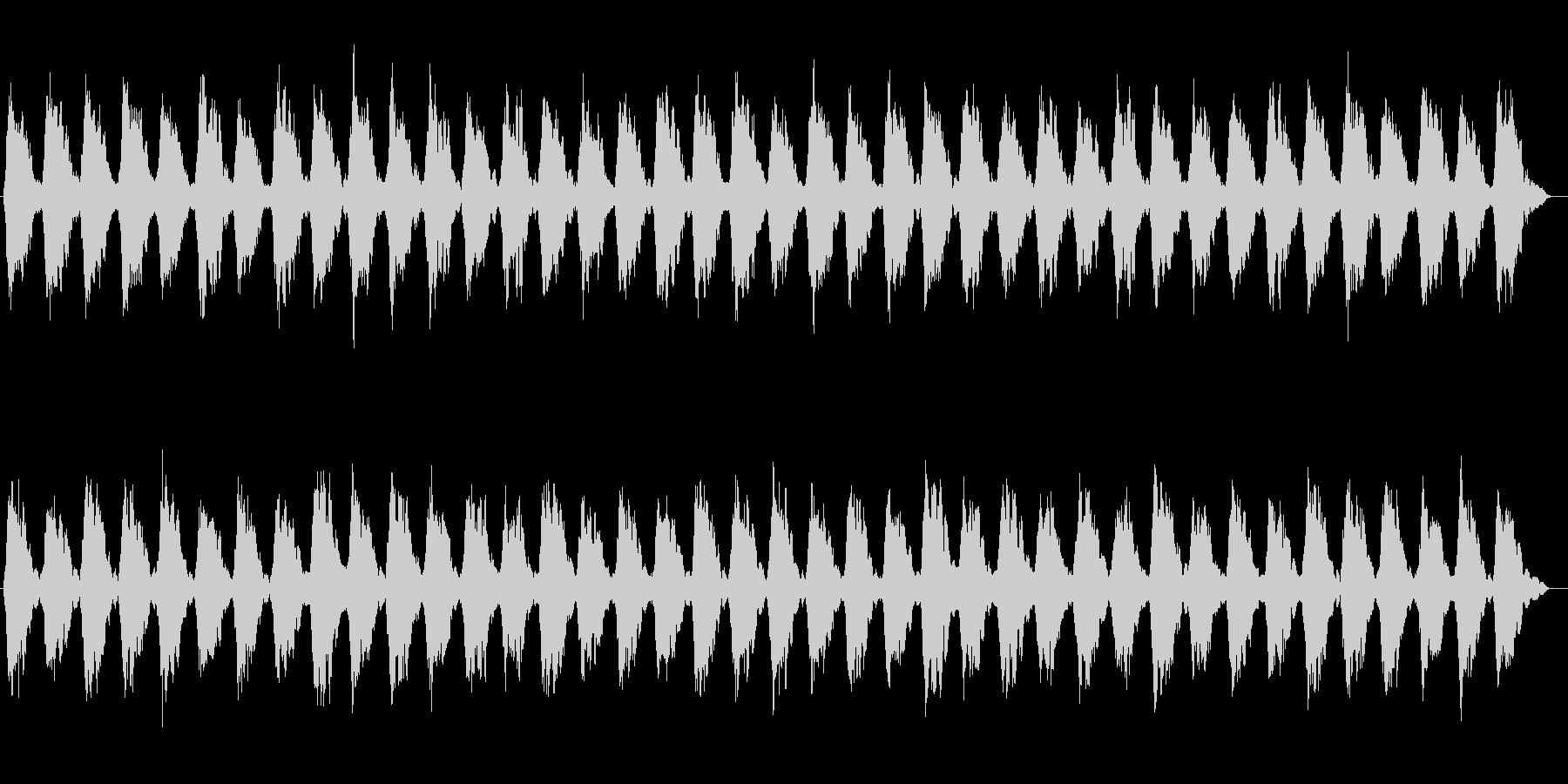 時間がゆっくりと流れるシンセサウンドの未再生の波形
