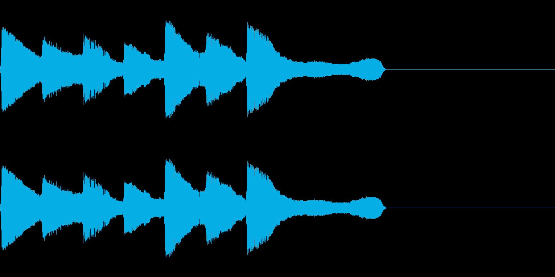 チャララララ(回復クリア/ファミコン#2の再生済みの波形