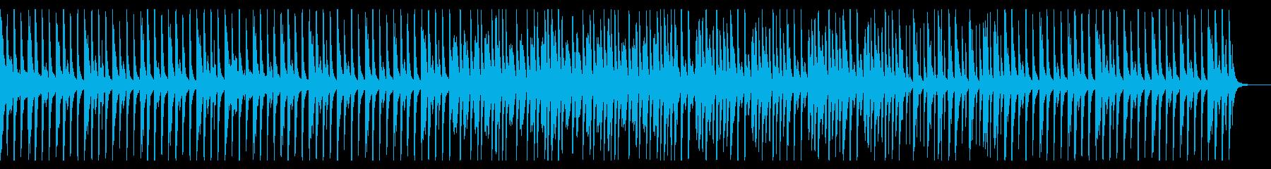 原始時代的なイメージのBGMの再生済みの波形