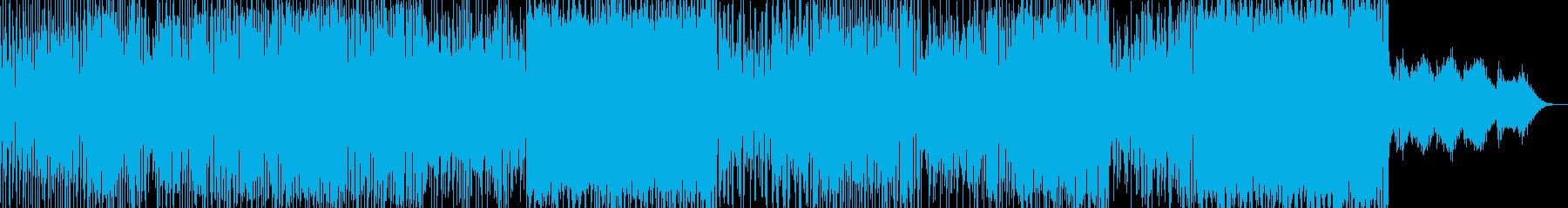 ドタバタなラブコメ・アニメ調ポップスの再生済みの波形