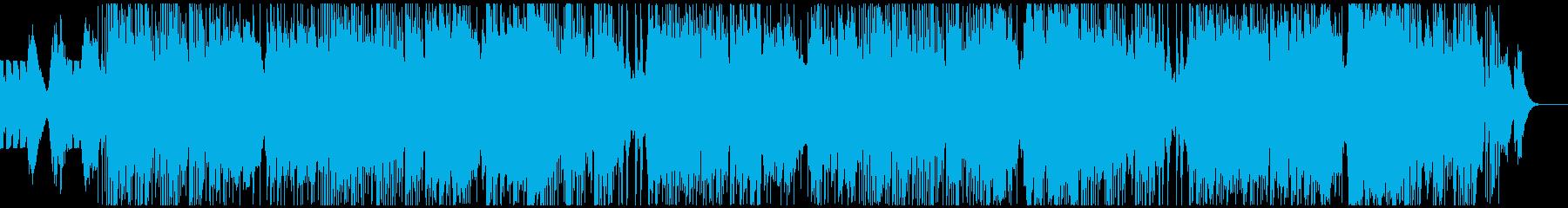 感動のエンディング、エレクトロニカの再生済みの波形