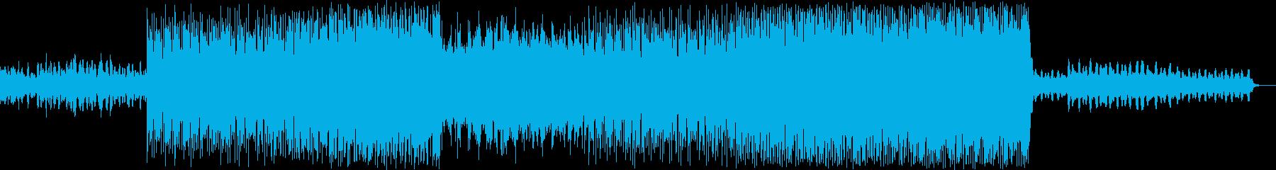 近未来的な電子的なアンビエントBGMの再生済みの波形