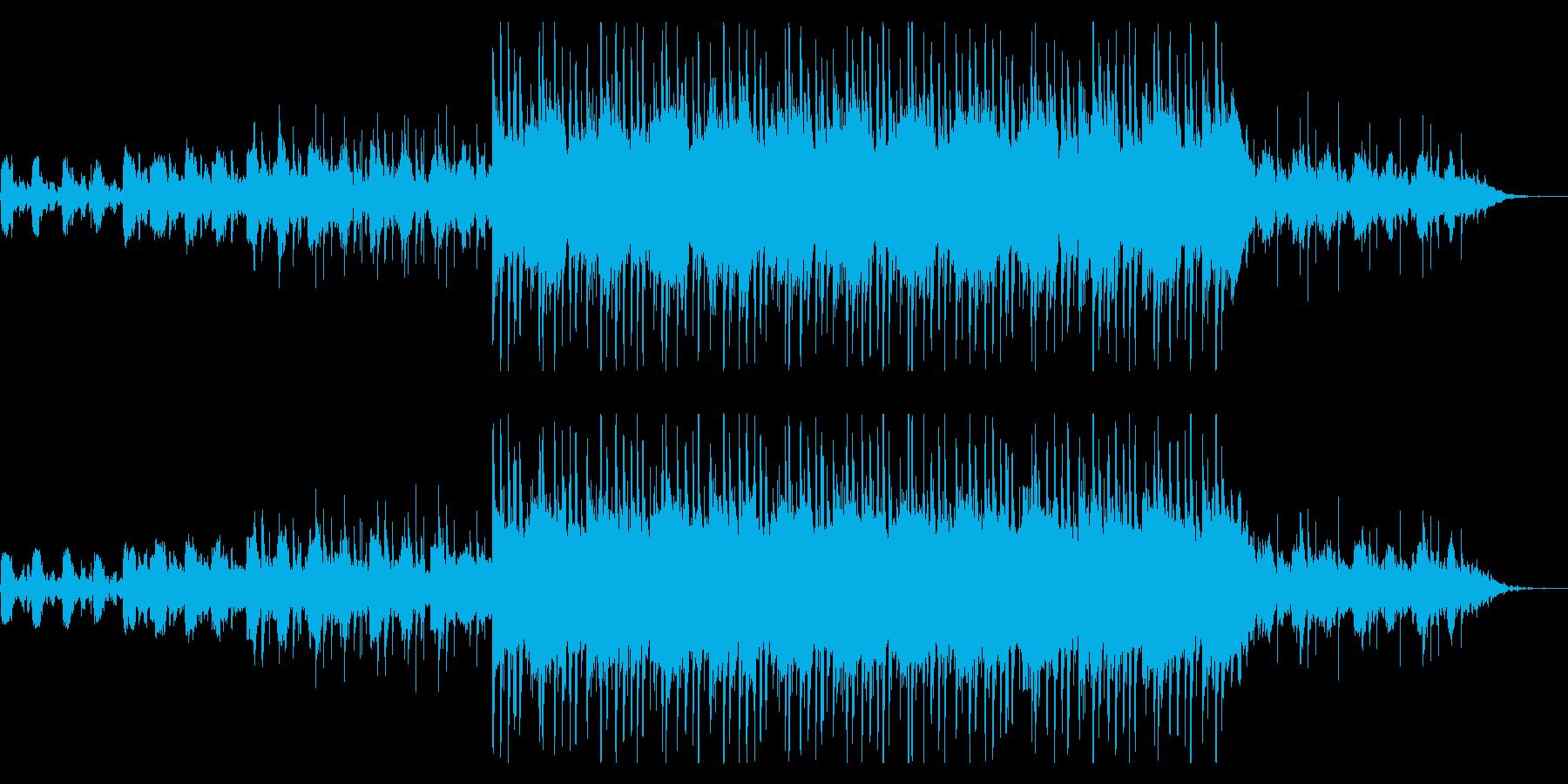 明るくて可愛らしいメロディーの再生済みの波形