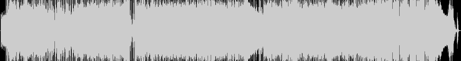 疾走感のあるロックサウンドディスコの未再生の波形