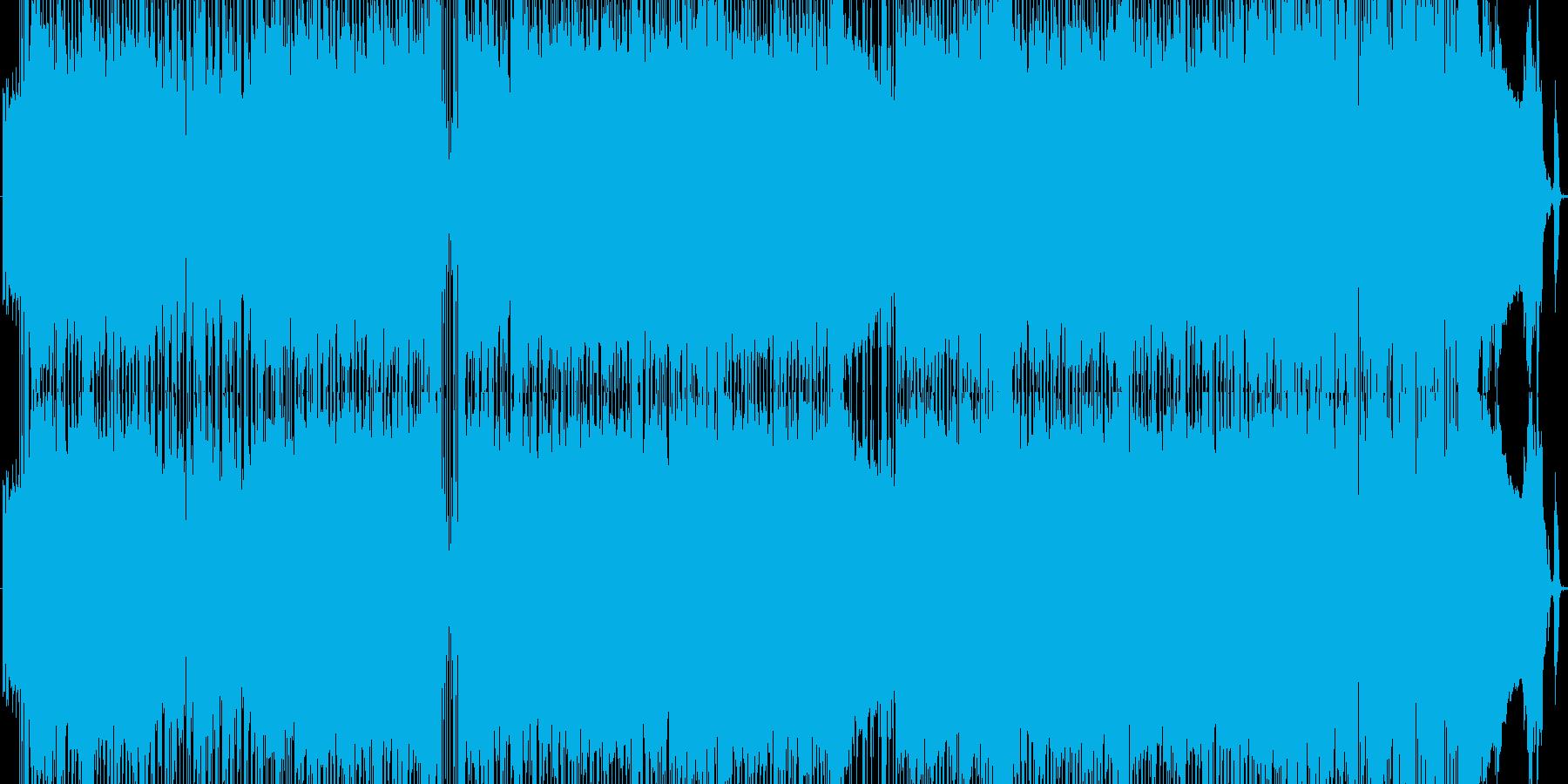 疾走感のあるロックサウンドディスコの再生済みの波形