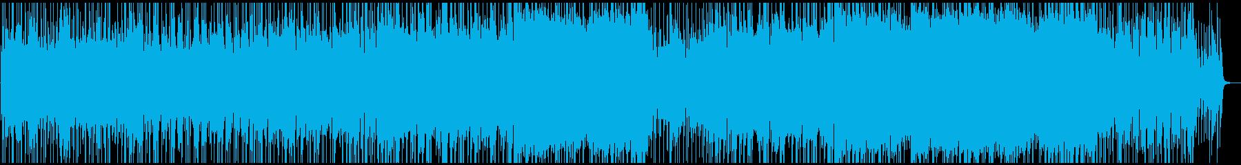 疾走感のある変拍子ロックの再生済みの波形