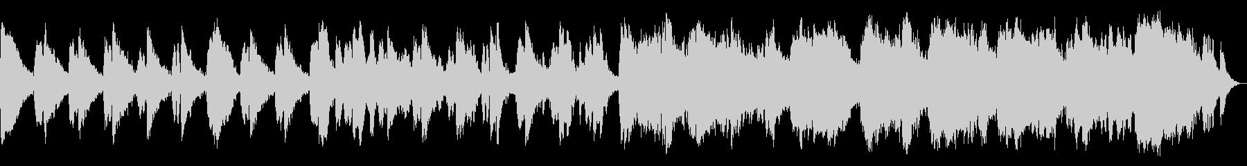 浮遊感を感じる、アンビエントミュージックの未再生の波形