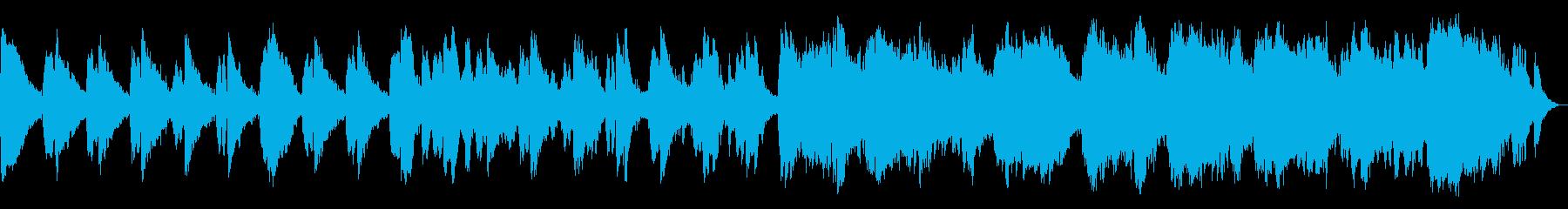 浮遊感を感じる、アンビエントミュージックの再生済みの波形